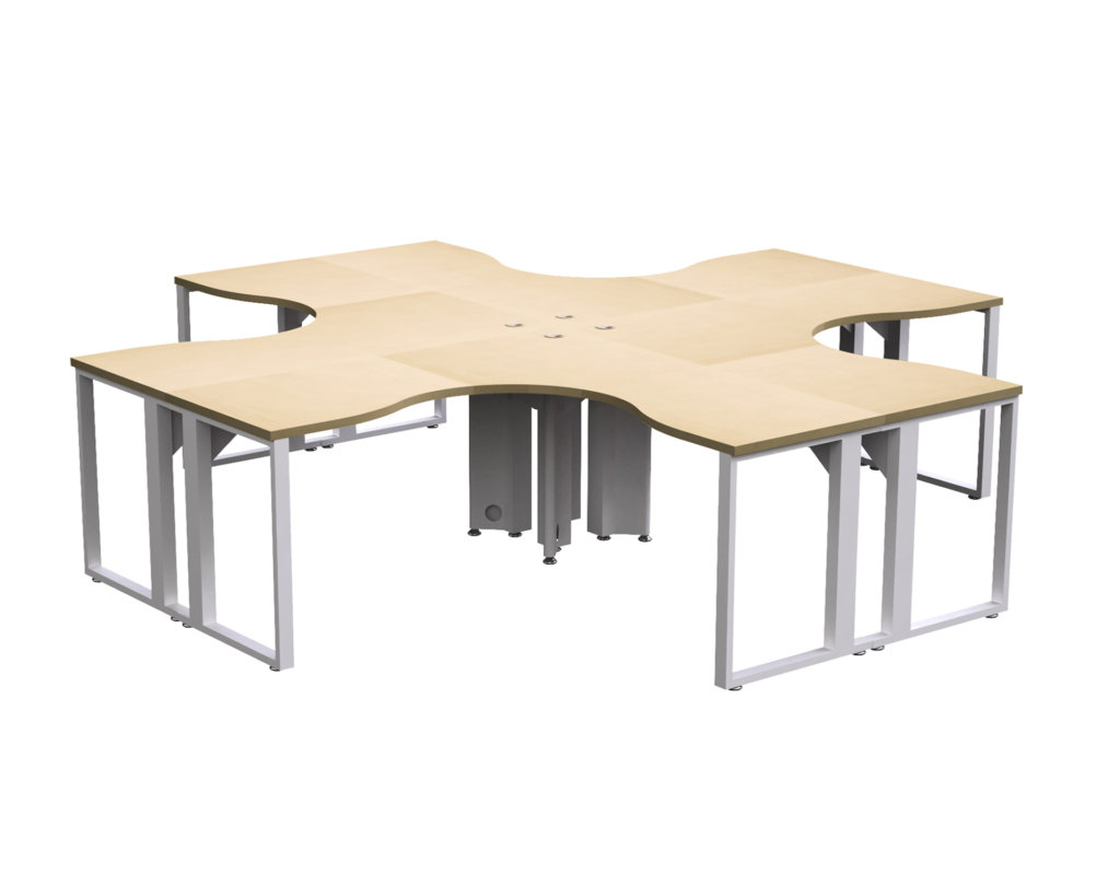 Customizable 4-Person Benching Workstations