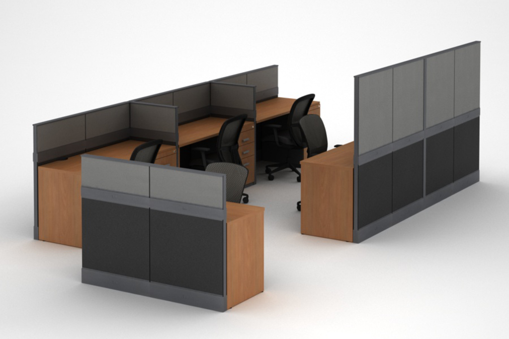 Modular Cubicles / Workstations with Panel Dividers - Customizable - MI
