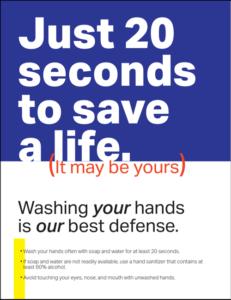 Free Hand Wash Notice Design Printable