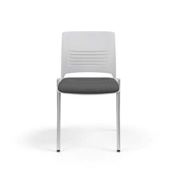 KI Strive Stack Chair with Upholstered Seat