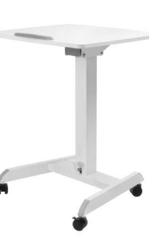 Movel Sturdy Sit-Stand Mobile Workstation Desk on Casters Wheels Front
