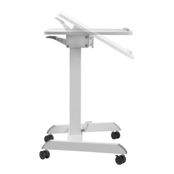 Movel Sturdy Sit-Stand Mobile Workstation Desk on Casters Wheels