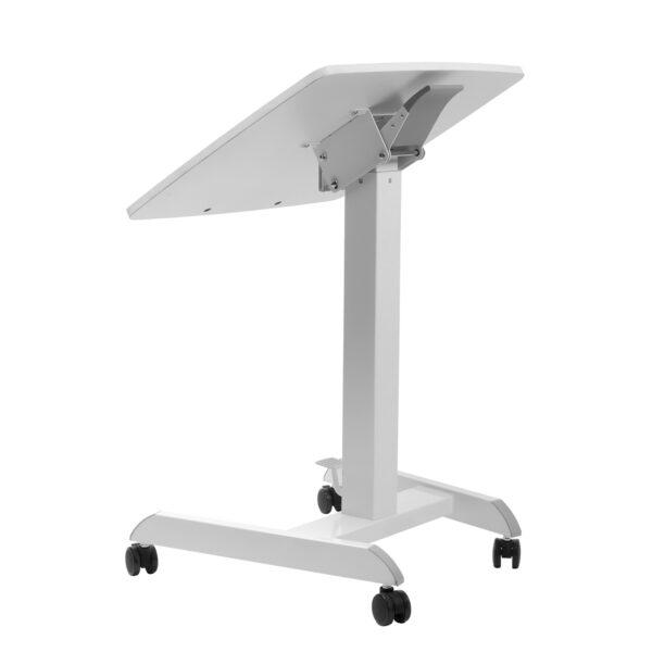 Movel Sturdy Sit-Stand Mobile Workstation Desk on Casters Wheels Tilted Back